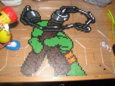 TMNT Michaelangelo perler beads by ndbigdi on DeviantArt