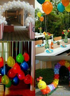 Ideas para fiestas confeccionadas con globos