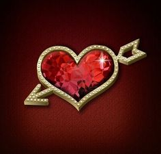 Golden heart with ruby and diamonds ~ absolutely love this.  Ruby was my Mom' birthstone and I love anything with rubies.