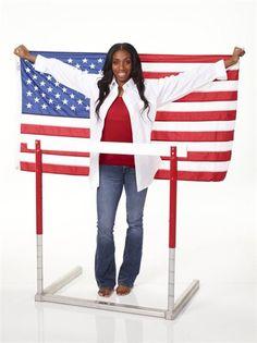 Model Olympian: Lashinda Demus - Track & Field Slideshows | U.S. hurdler Lashinda Demus off the track.  (Photo: Mitchell Haaseth / NBCOlympics.com) #NBCOlympics