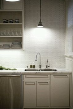 Love this kitchen lighting