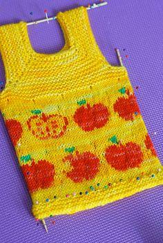 apple vest. Newborn to 6 years.