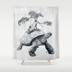 Tortoise Tree - Growth Art Print by Adam Dunt Tortoise Drawing, Tortoise Tattoo, Inspiration Tattoos, Ohh Deer, Graphisches Design, Black Tree, Magazine Art, Cool Artwork, Reptiles