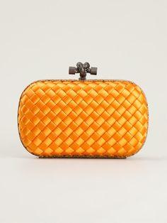 e2575f63a912 Bottega Veneta Intrecciato Clutch in Orange (yellow   orange) - Lyst