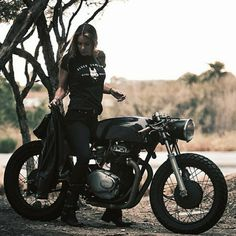 @She_Is_Ryan on a sweet Honda Cafe Racer photo by the Zachiatrist