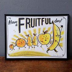 Fruit Print by HaveAGanderUK on Etsy