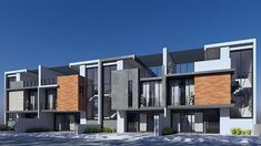 Row House Design, Cluster House, Modern Townhouse, Duplex House, Architecture Details, Cambodia, Bungalow, House Plans, Small Condo