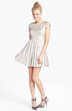 #Hailey Logan             #Dresses                  #Hailey #Logan #Back #Cutout #Metallic #Skater #Dress #(Juniors) #Champagne #Small                      Hailey Logan Back Cutout Metallic Skater Dress (Juniors) Champagne Small                                http://www.snaproduct.com/product.aspx?PID=5277688