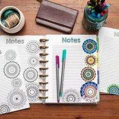 Happy Planner Notes, Coloring Sheet, Planner Insert, #natalierebecca #natalierebeccadesign #happyplanner #thehappyplanner #getorganized #meandmybigideas #plannerinserts #plannergirl #plannernerd #create365planner #planner