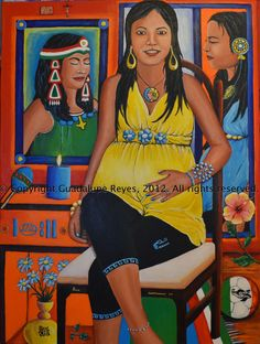"""A New Beginning 2012"" Acrylics on Canvas-30 x 40-""Un Nuevo Comienzo"" 2012 acrílicos sobre lienzo 30 x 40-© 2012 Guadalupe Reyes"