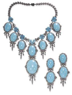 Necklace and Earrings--Turquoise Christie's