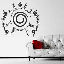 Anime nanuto wall decal silhouette art boys bedroom wall for Mural naruto