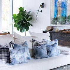 indigo dyed pillows
