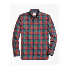 Brooks Brothers Buffalo Check Flannel Sport Shirt (2,690 INR) ❤ liked on Polyvore featuring men's fashion, men's clothing, men's shirts, men's casual shirts, mens button down collar shirts, men's buffalo plaid shirt, men's buffalo check flannel shirt and mens sport shirts
