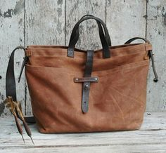 love this waxed canvas tote..