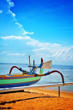 A traditional sail boat at Sindhu Beach, Sanur, Bali, Indonesia. Ready to sail away. Sanur Bali, Sail Away, Bali Travel, Hammock, Sailing, Photographs, Wanderlust, Boat, Traditional