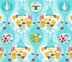 Let's go see the Wizard fabric by zesti on Spoonflower - custom fabric