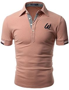 Doublju Men Casual Slim Fit 100% Cotton Polo T-shirt INDIPINK,L | Relaxbuddy Online Shopping