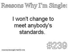Reasons Why I'm Single