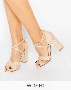 78a16946c39 New Look Wide Fit Block Heeled Sandal at asos.com