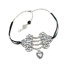 Gothic Lolita Necklace  Corset Choker  Chains by ghostlovejewelry, $45.00