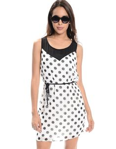 Shop ModDeals.com for Black/White Polka Party Sleeveless Dress  in our cheap trendy Dresses category. Find trendy cheap clothing for women, discount shoes, jewelry sales, perfume & cheap accessories f