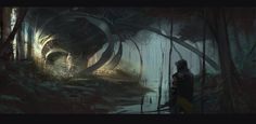 "vividvisualizations:  ""Swamp Guardian by Johan Wahlbäck"" via /r/ImaginaryLandscapes"