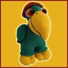 Amigurumi Pattern Crochet  Paquito The Parrot by DeliciousCrochet