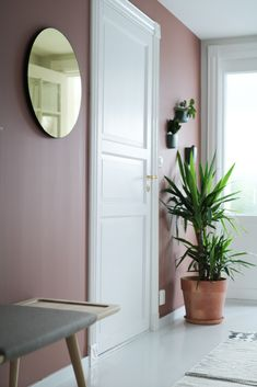SOLGT! - Nordiskehjem Blogg Hallway Colours, Stylish Home Decor, Living Room Colors, Home Decor Inspiration, New Homes, Interior Design, Terracotta, Furniture, Painted Walls