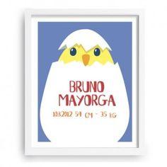 Pollito - Cuadro infantil - www.babyprint.es