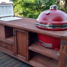 Custom Grill Tables For Do Joe Green Egg Primo And Dual Or Gas Built In Cooler Optional Butcher Block Top