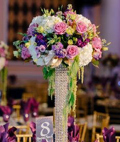 Brighten up your celebration with a stunning #centerpiece!  #Flowers