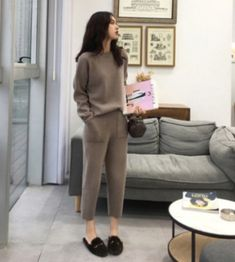 ://lztees.com/product/women-sweater-two-piece-knitted-pant-sets-slim-tracksuit/ Cashmere Suit, Cashmere Sweaters, Pullover Sweaters, Loose Sweater, Sweater Set, Online Fashion, Women's Fashion, Street Fashion, Suits For Women