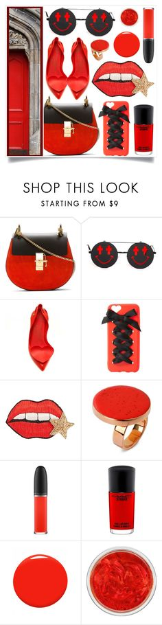 """Anti-Passion"" by racanoki ❤ liked on Polyvore featuring Chloé, Linda Farrow, Charlotte Russe, Happy Embellishments, STELLA McCARTNEY, MAC Cosmetics, Christian Louboutin and RaCaNoKi"