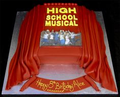 High School Musical Cake Stage