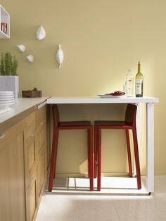 5 вариантов размещения стола и стульев на маленькой кухне - 1
