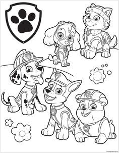 Paw Patrol Coloring Pages To Print. Kids love Paw Patrol, the characters in these movie very popular among children. That's why they also will loove these paw p Free Adult Coloring Pages, Free Coloring Sheets, Cartoon Coloring Pages, Disney Coloring Pages, Coloring Pages To Print, Coloring For Kids, Coloring Books, Kids Printable Coloring Pages, Paw Patrol Party