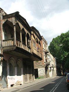 old balcony Tiblisi