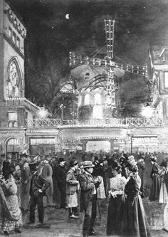 Paris was the capital of culture, art and entertainment. The Moulin Rouge, for example. Moulin Rouge Show, Moulin Rouge Paris, Le Moulin, Montmartre Paris, Paris 1900, Old Paris, Paris Paris, Vintage Paris, Belle Epoque