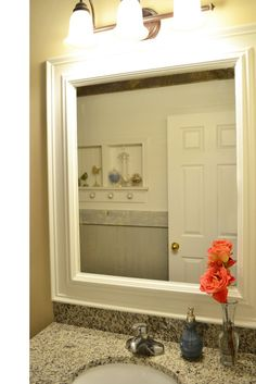How To Frame A Mirror Place Called Home Pinterest Decorative Trim Bathroom Mirrors And Hgtv