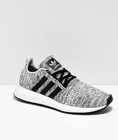 c46f1ef0 adidas Swift Run Heather Black & White Shoes Zapatos Nike, Botas Zapatos,  Zapatillas Vans
