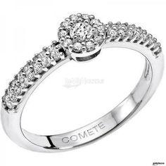 Anello di #fidanzamento, oro bianco e brillantini. Bello, no?