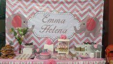 mesa dulce baby shower elefante rosa