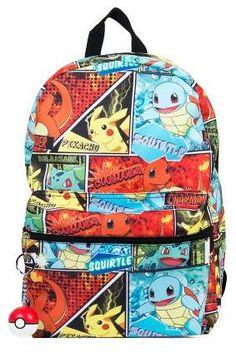 4224ec851039 Pokemon Anime Pikachu Kids  Backpack with Pokeball