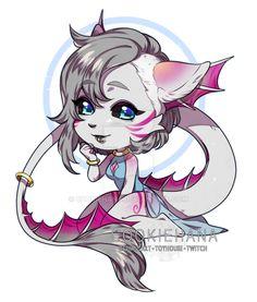 CM:: AngelaDawn by CookieHana on DeviantArt Chibi Girl Drawings, Cute Drawings, Cute Creatures, Mythical Creatures, Anime Monsters, Cute Anime Chibi, Drawing Base, Cute Little Animals, Art Club