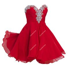 Beautiful Red Sweetheart Party Dress/Homecoming by ColorDress