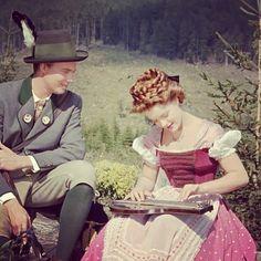Romy Schneider in Siss, 1955. - Inspiration for raredirndl.com