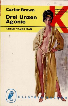 Cover Art by Robert McGinnis, House of Sorcery (German = ?) by Carter Brown.
