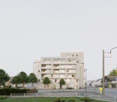 35 logements + activités_RENNES - Agence a/LTA architectes - urbanistes Le Trionnaire (x2) - Tassot - Le Chapelain Basket Vans, Saint Jacques, Facade, Triangle, Multi Story Building, Facades