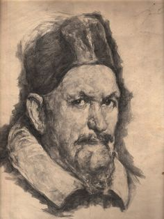 A copy of the portrait by Velasquez, pencil cm I drew this copy, in the years of study at the teacher Volodymyr Bagalika in Creativity, Pencil, Study, Teacher, Portrait, Drawings, Art, Professor, Sketches